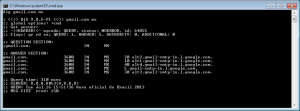 Uso do comando dig para verificação de registros MX